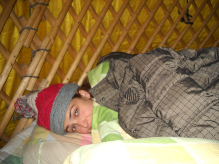 Sleep in Mongolian Yurt