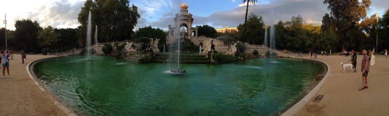 Ciutadella park fountain