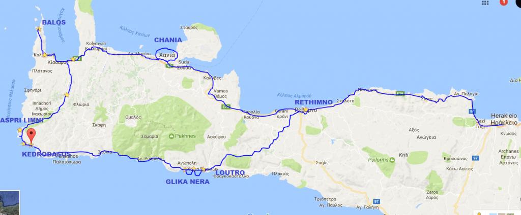 Mappa Creta est, Grecia